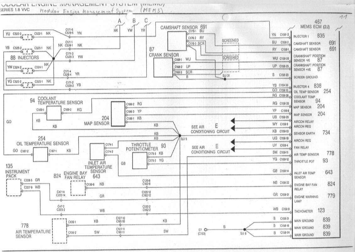 Wiring Diagram Series Mgf Schaltbilder Inhalt Diagrams Of The Rover K 18 Vvc