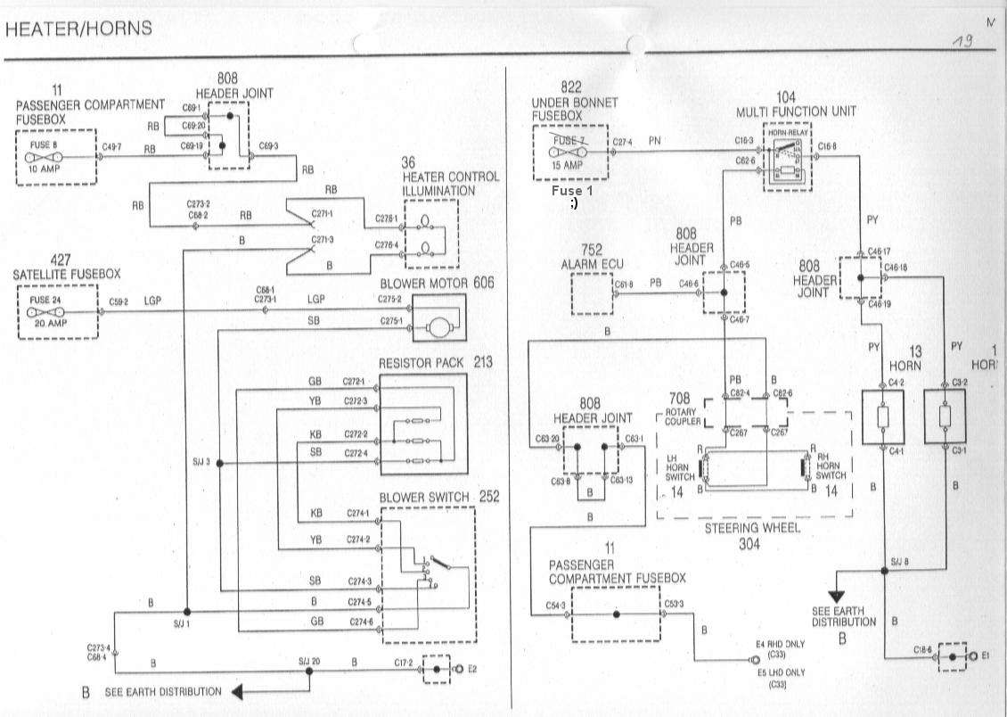 Wiring Diagram Horn Relay Mgf Schaltbilder Inhalt Diagrams Of The Rover 19 Horns Signalhorn