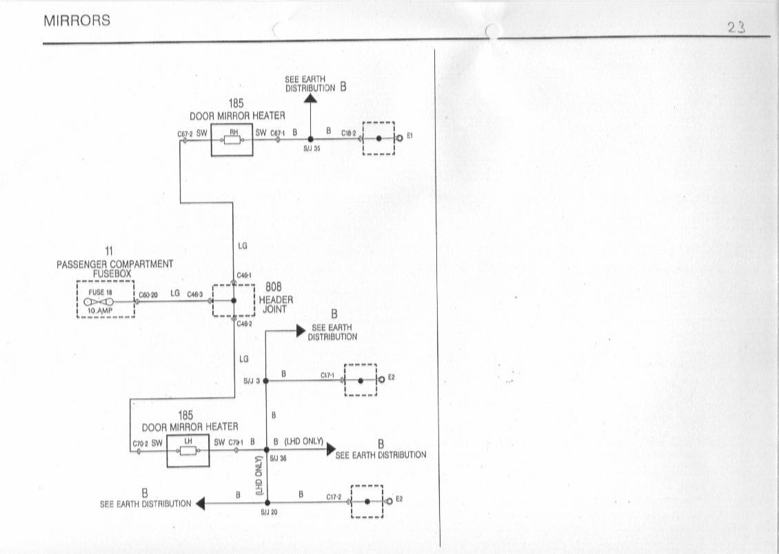 Mgf Schaltbilder Inhalt Wiring Diagrams Of The Rover Mirror Diagram 23 Mirrors Spiegel